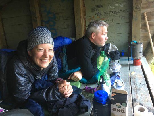 Paar im Shelter
