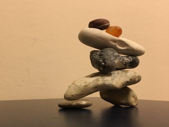Steine-Stapel