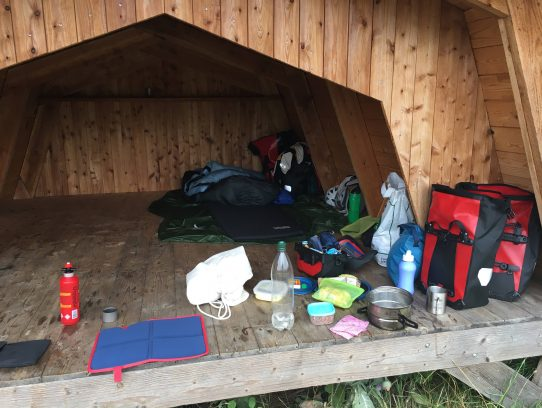 Blick ins Shelter