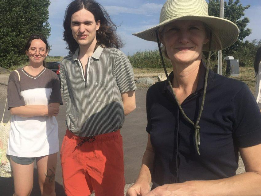 Frau mit Sohn und Tochter
