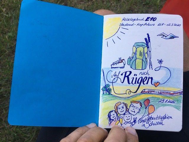 Tagebucheintrag mit Zeichnung